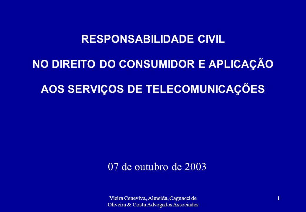 RESPONSABILIDADE CIVIL NO DIREITO DO CONSUMIDOR E APLICAÇÃO AOS SERVIÇOS DE TELECOMUNICAÇÕES