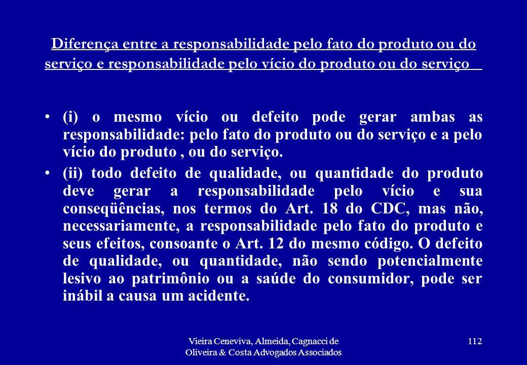 Diferença entre a responsabilidade pelo fato do produto ou do serviço e responsabilidade pelo vício do produto ou do serviço