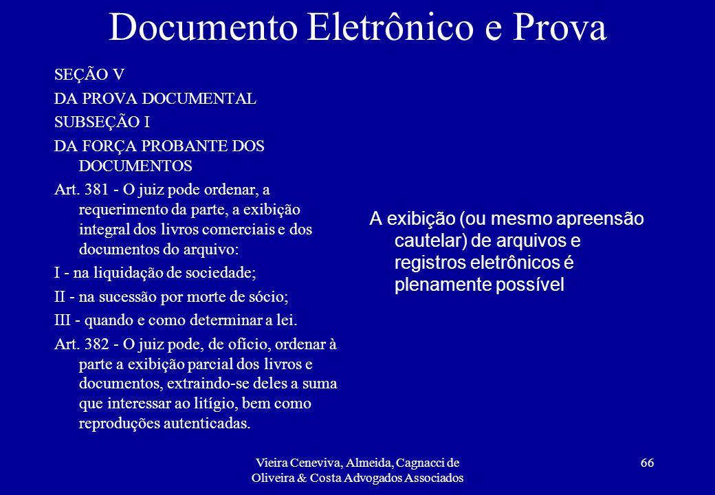 Documento Eletrônico e Prova