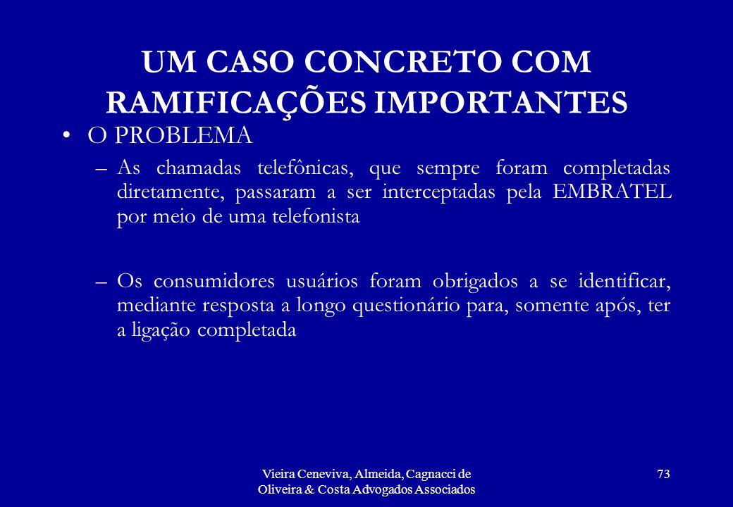 UM CASO CONCRETO COM RAMIFICAÇÕES IMPORTANTES