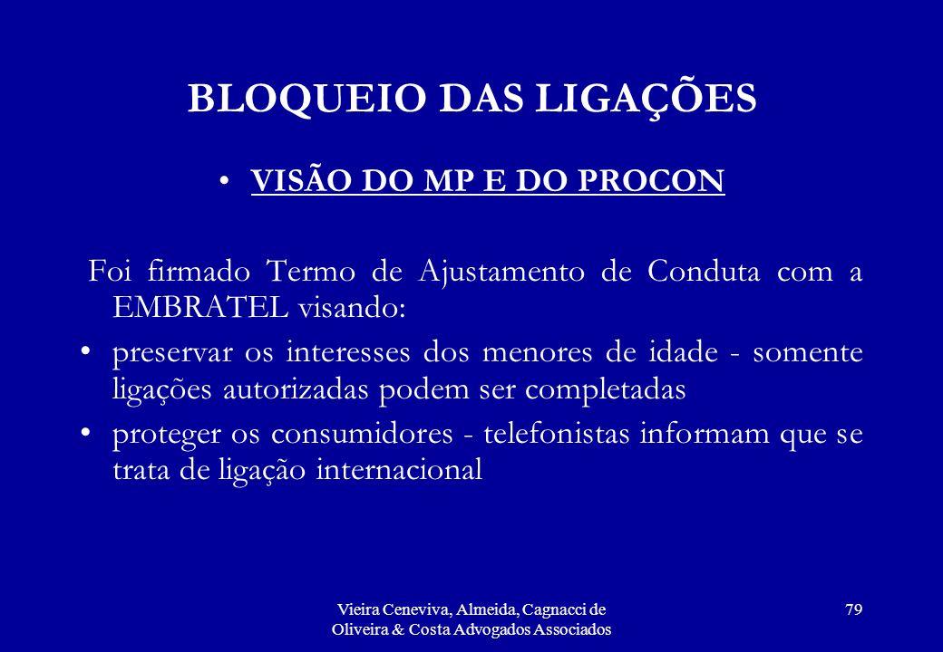 BLOQUEIO DAS LIGAÇÕES VISÃO DO MP E DO PROCON