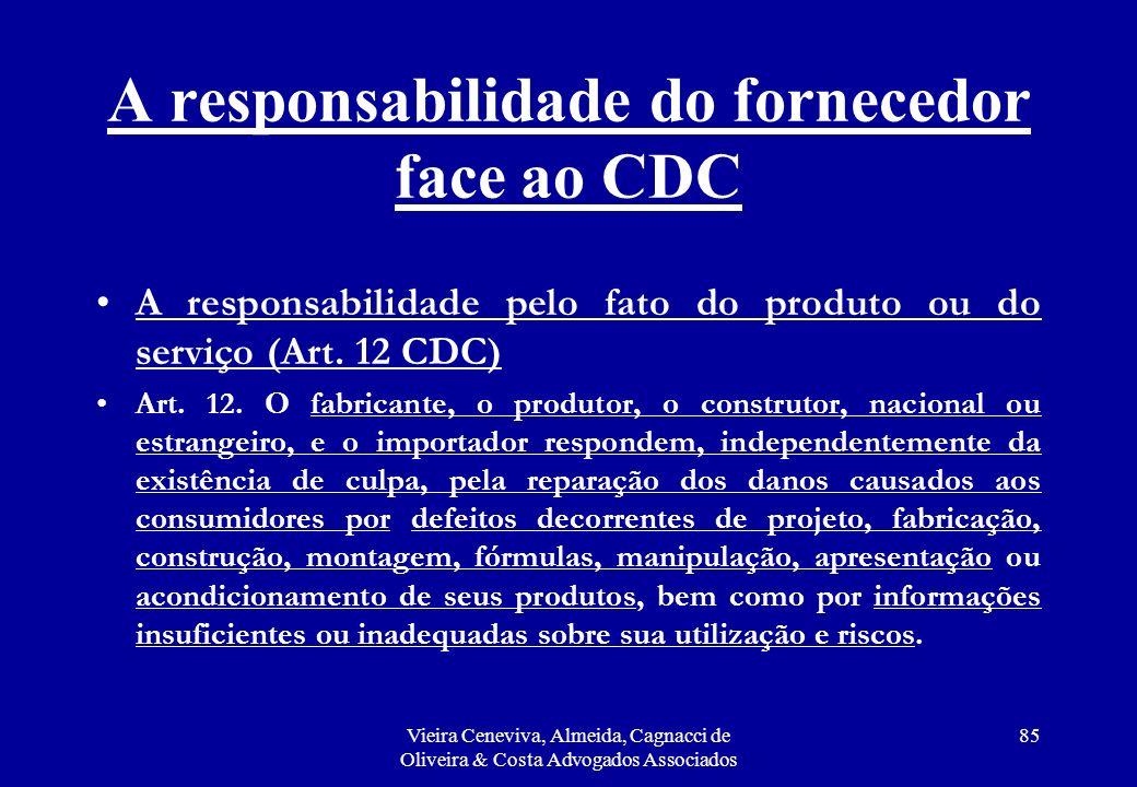 A responsabilidade do fornecedor face ao CDC