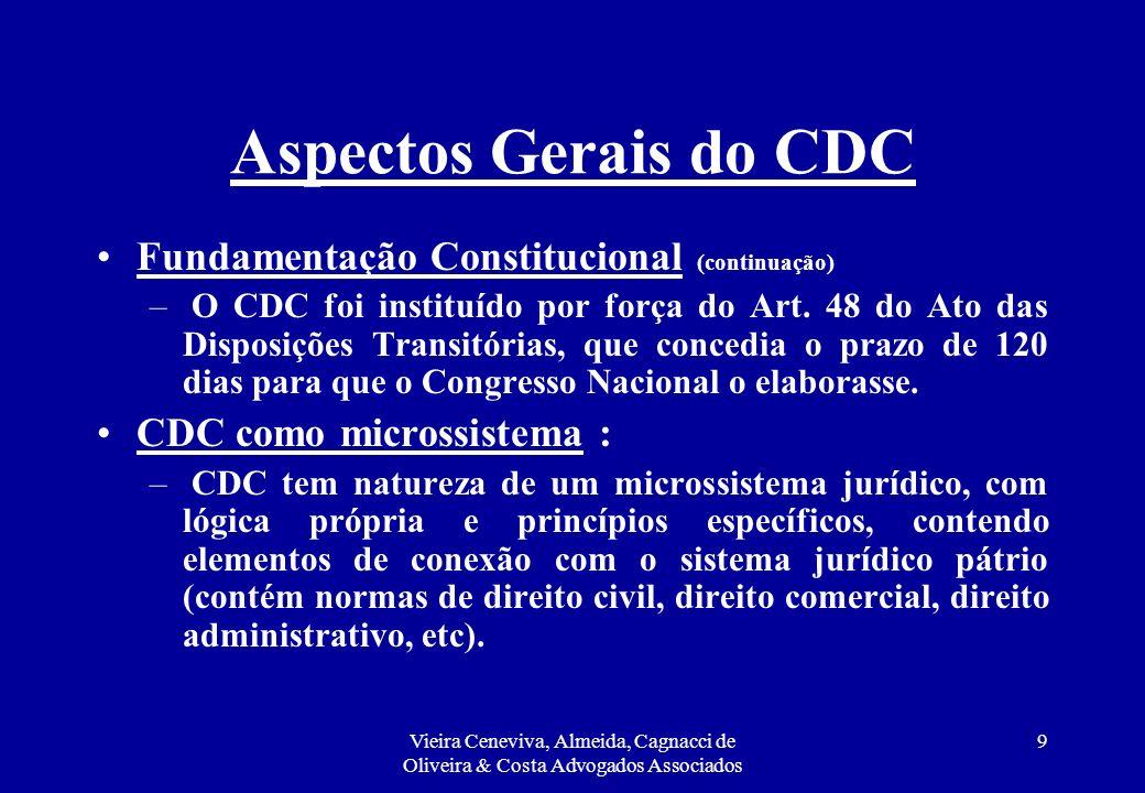 Aspectos Gerais do CDC Fundamentação Constitucional (continuação)