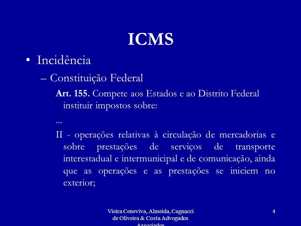 ICMS Incidência Constituição Federal