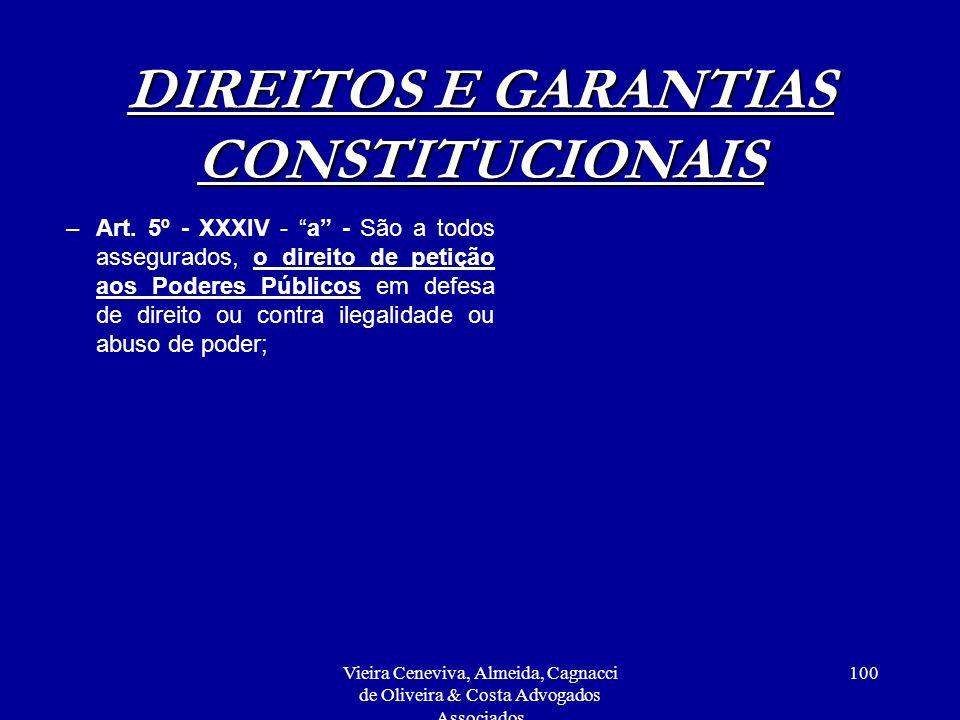 DIREITOS E GARANTIAS CONSTITUCIONAIS