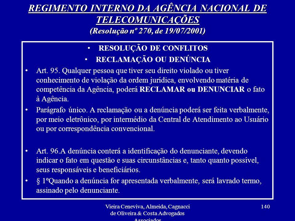 RESOLUÇÃO DE CONFLITOS RECLAMAÇÃO OU DENÚNCIA