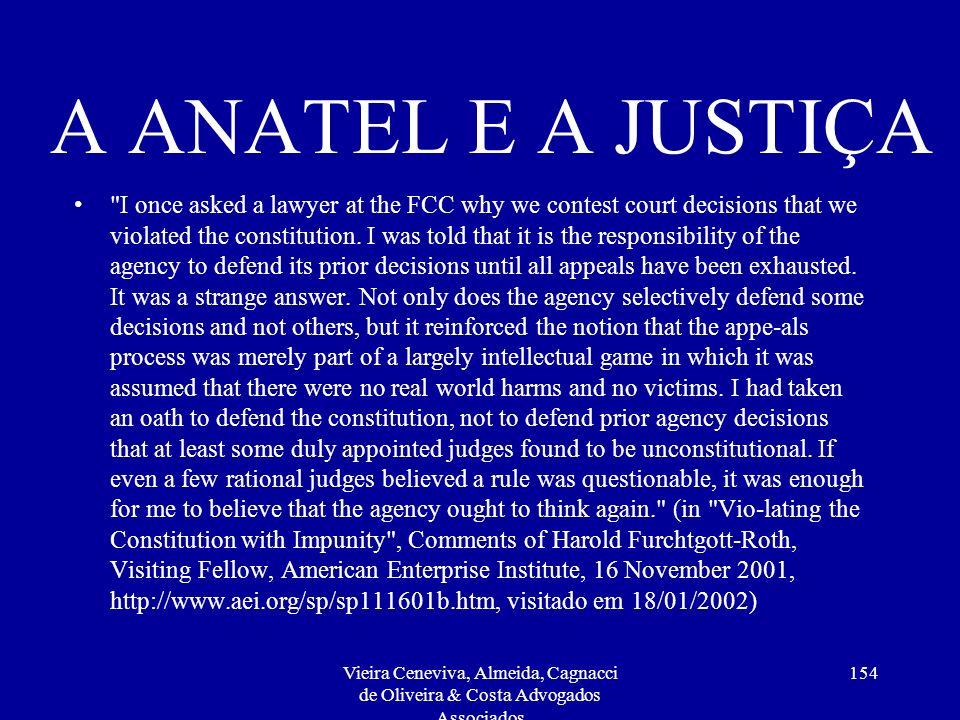 A ANATEL E A JUSTIÇA