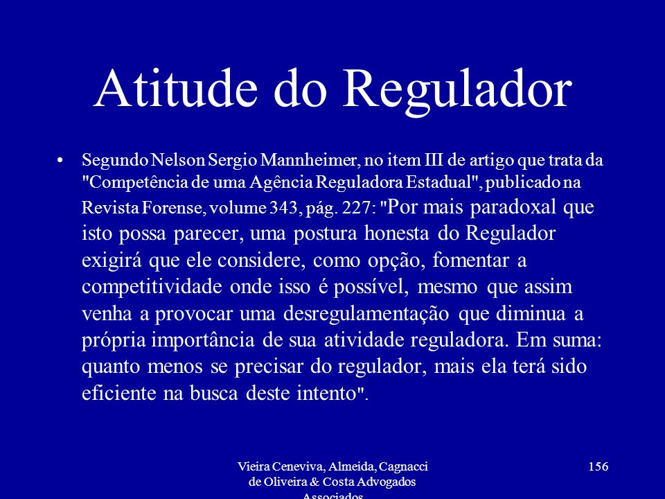 Atitude do Regulador
