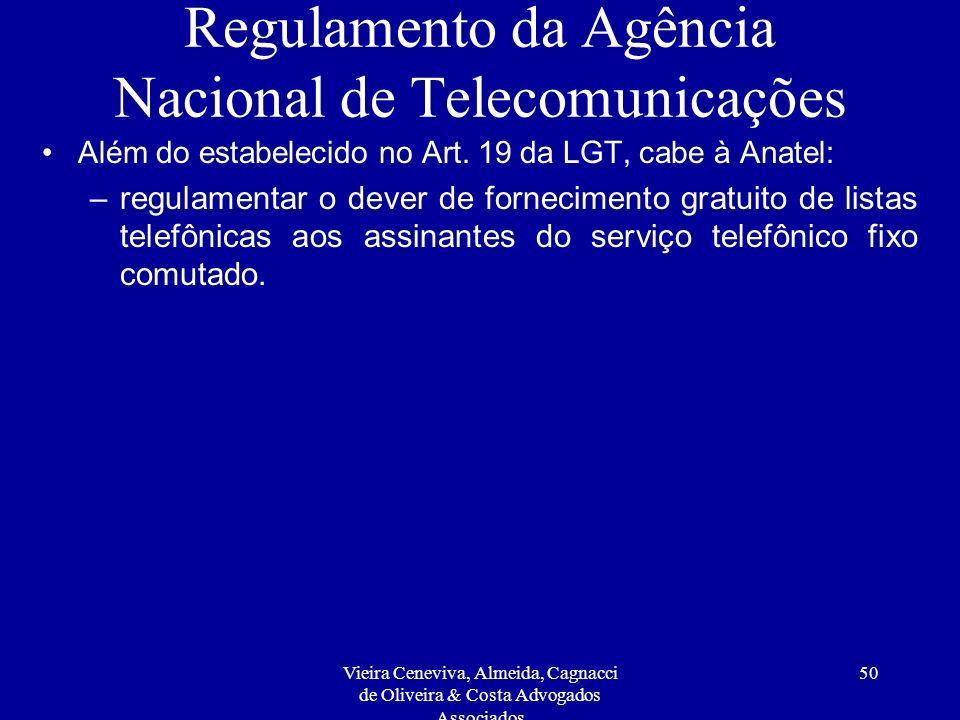Regulamento da Agência Nacional de Telecomunicações