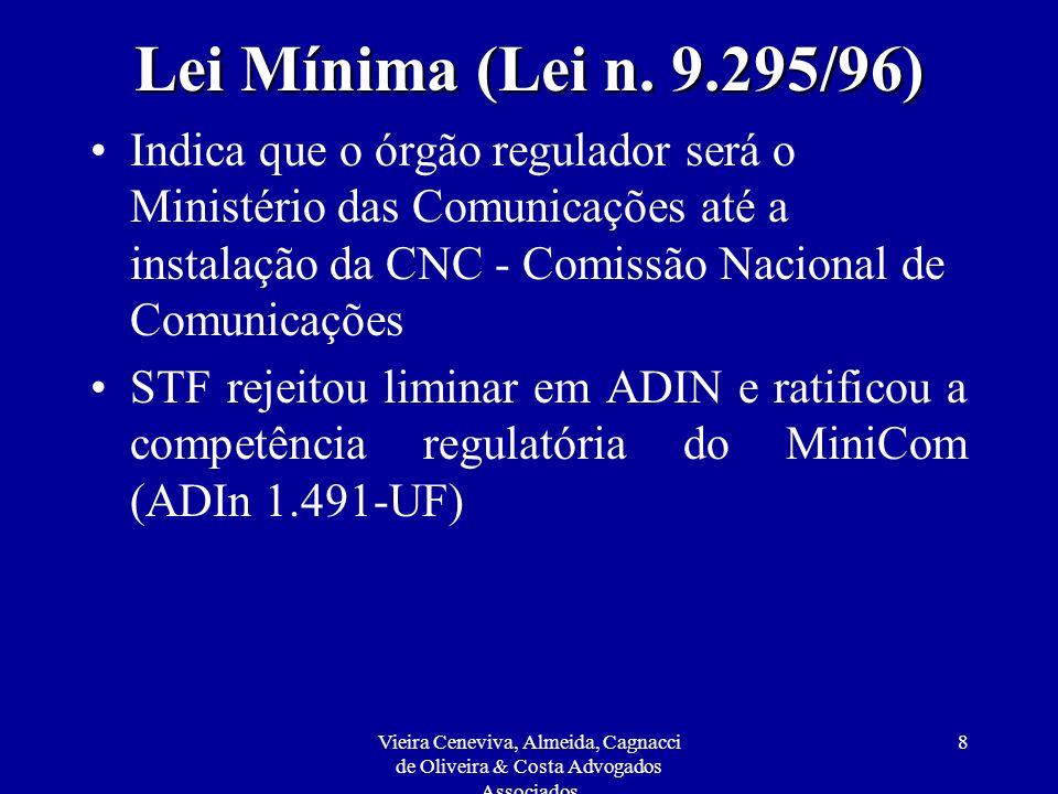 Lei Mínima (Lei n. 9.295/96)
