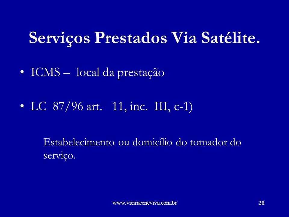 Serviços Prestados Via Satélite.