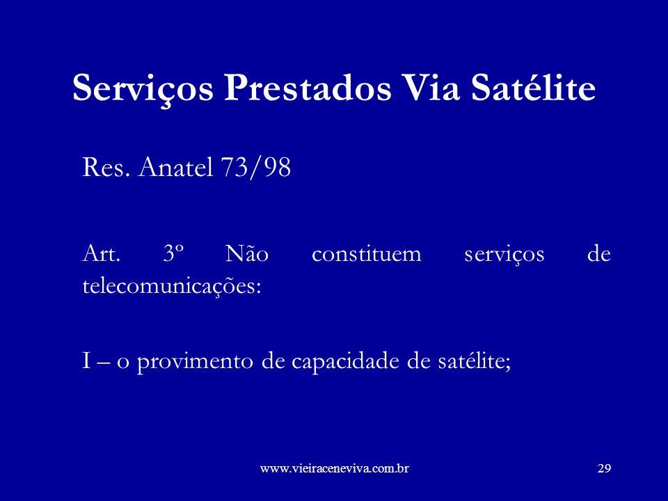 Serviços Prestados Via Satélite