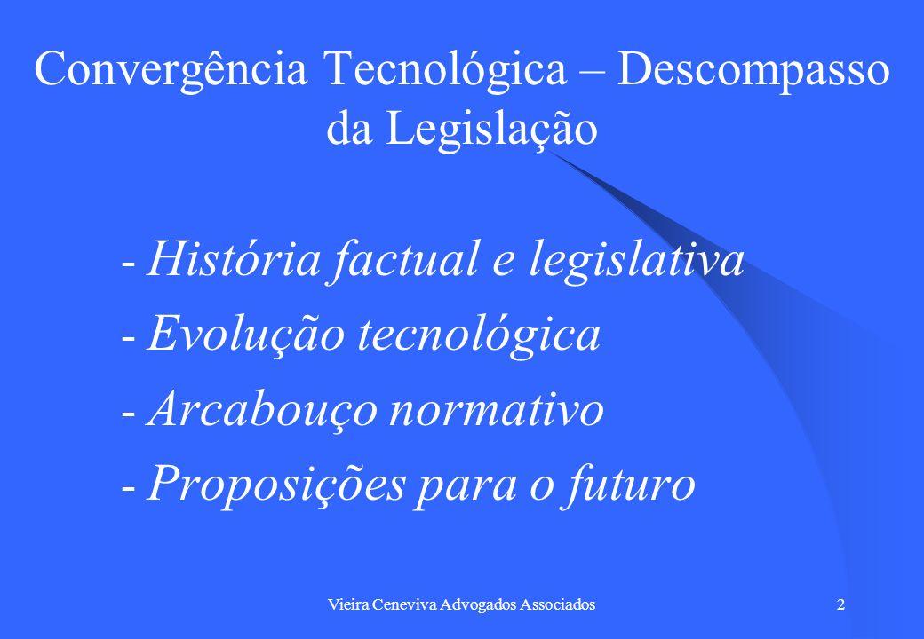 Convergência Tecnológica – Descompasso da Legislação