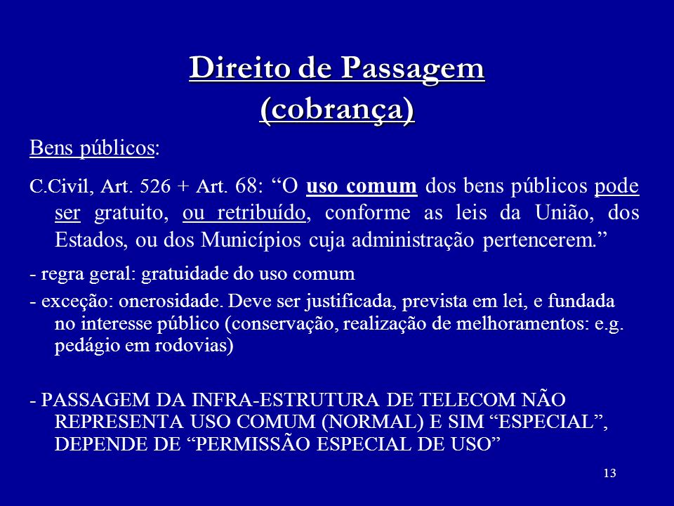 Direito de Passagem (cobrança)