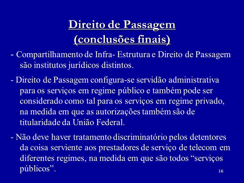 Direito de Passagem (conclusões finais)