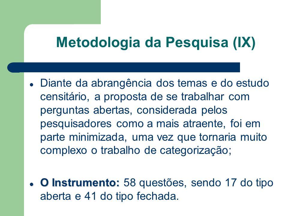 Metodologia da Pesquisa (IX)