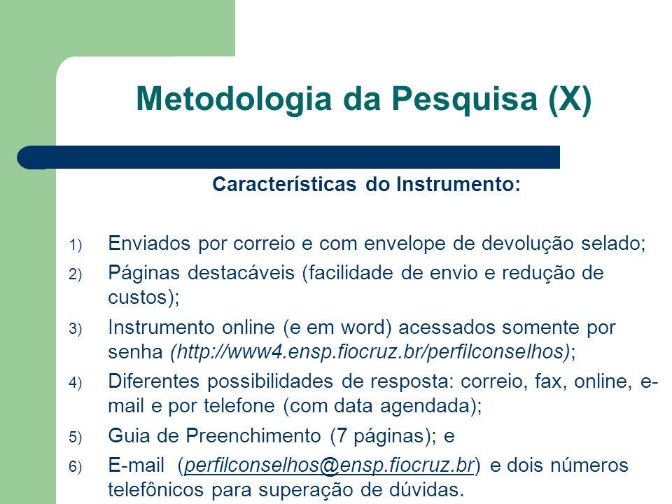 Metodologia da Pesquisa (X)