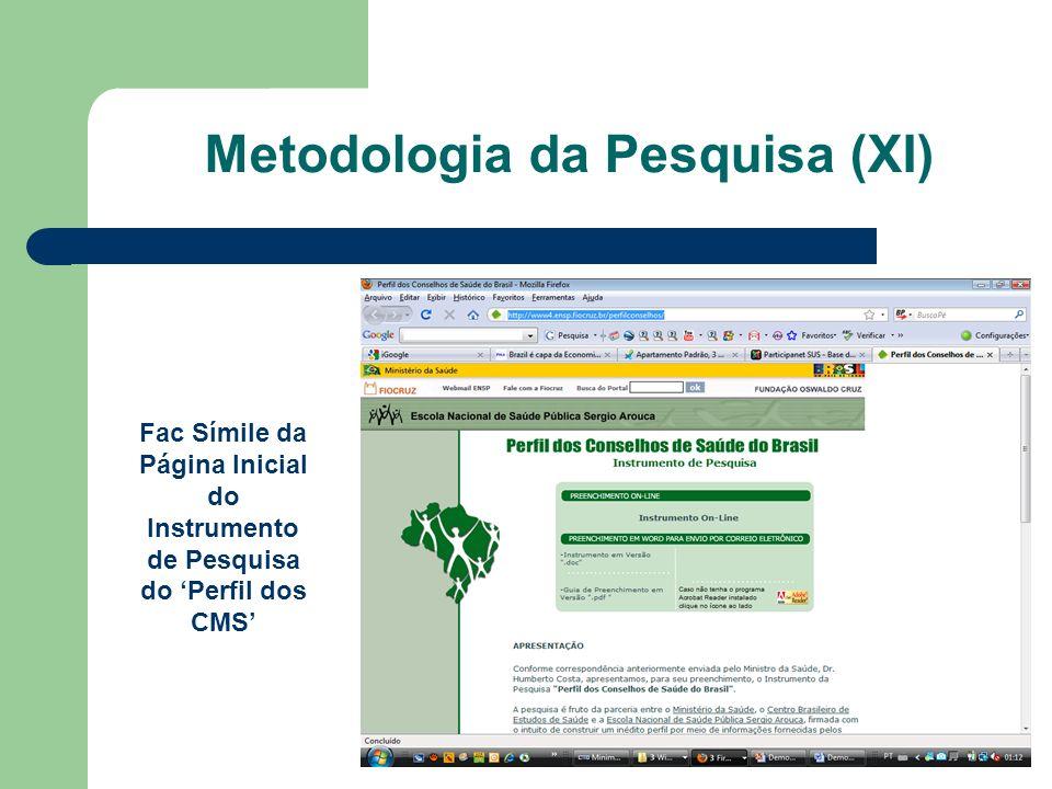 Metodologia da Pesquisa (XI)