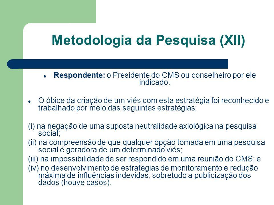 Metodologia da Pesquisa (XII)