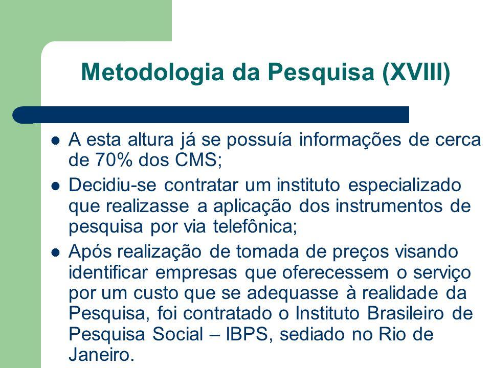 Metodologia da Pesquisa (XVIII)