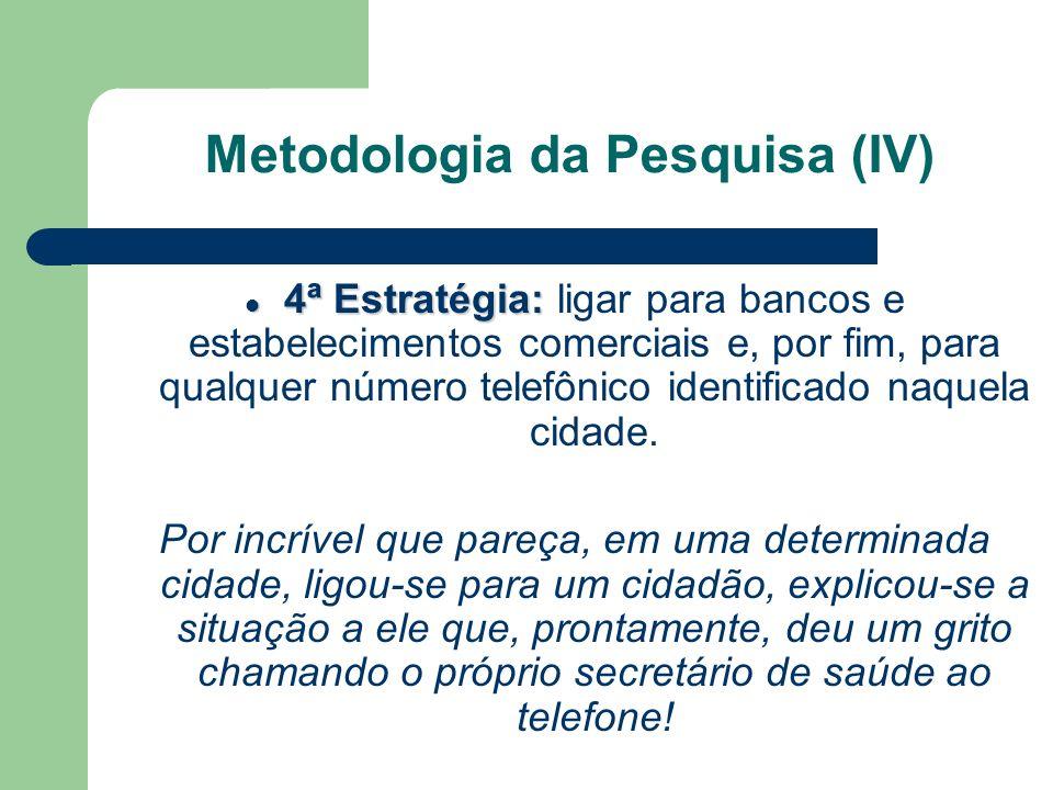 Metodologia da Pesquisa (IV)