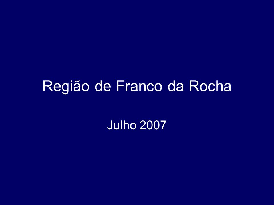 Região de Franco da Rocha