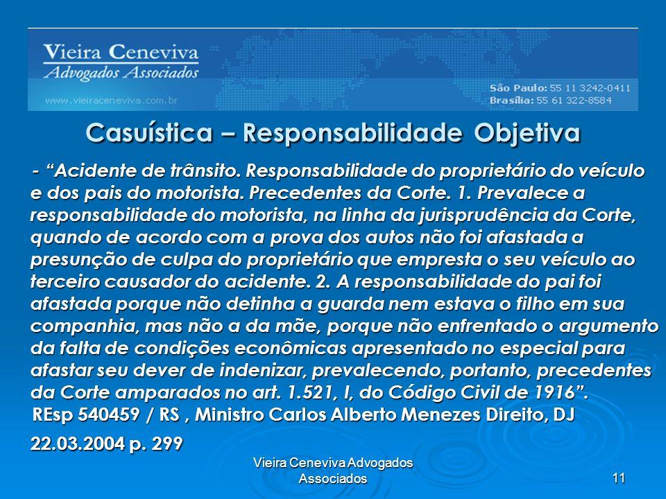 Casuística – Responsabilidade Objetiva