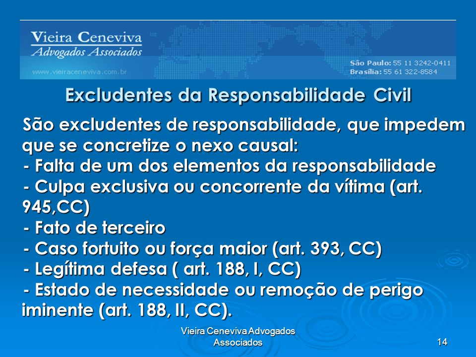 Excludentes da Responsabilidade Civil