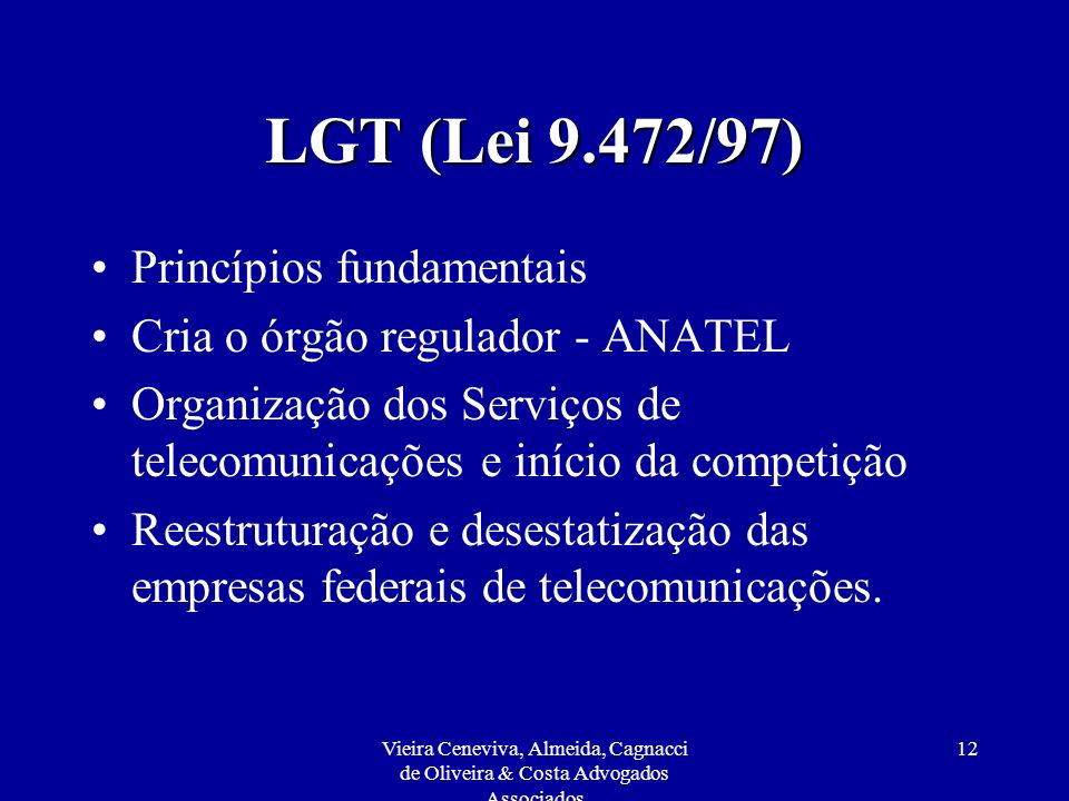 LGT (Lei 9.472/97) Princípios fundamentais