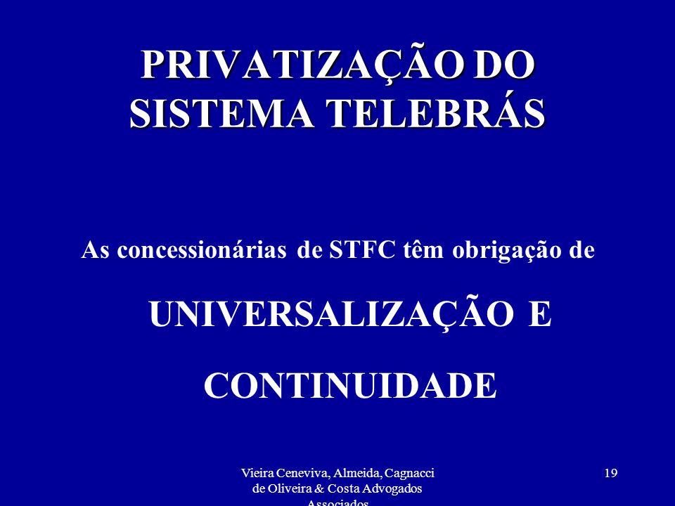 PRIVATIZAÇÃO DO SISTEMA TELEBRÁS