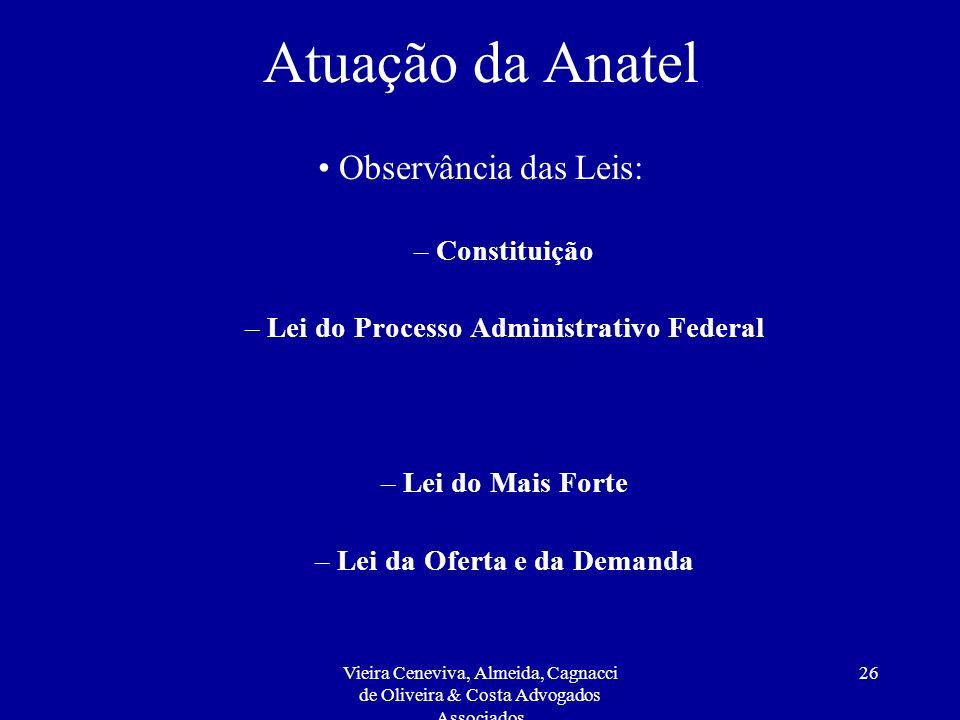 Lei do Processo Administrativo Federal Lei da Oferta e da Demanda