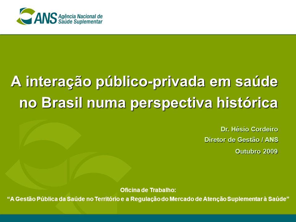 A interação público-privada em saúde no Brasil numa perspectiva histórica