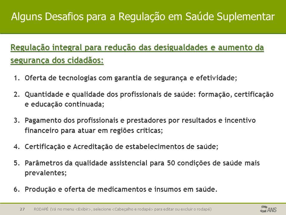 Alguns Desafios para a Regulação em Saúde Suplementar