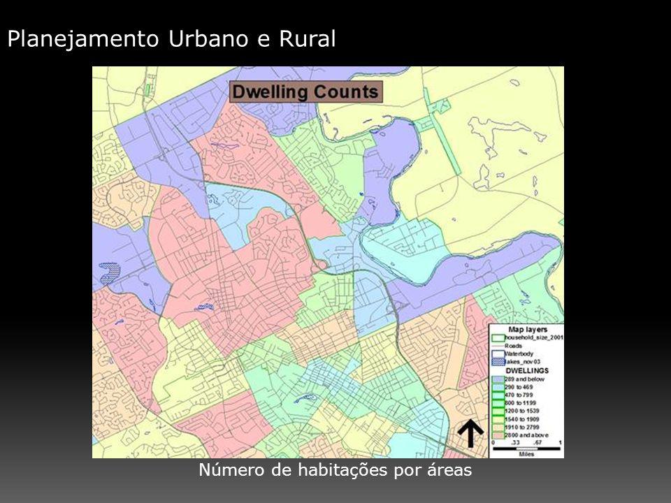 Número de habitações por áreas