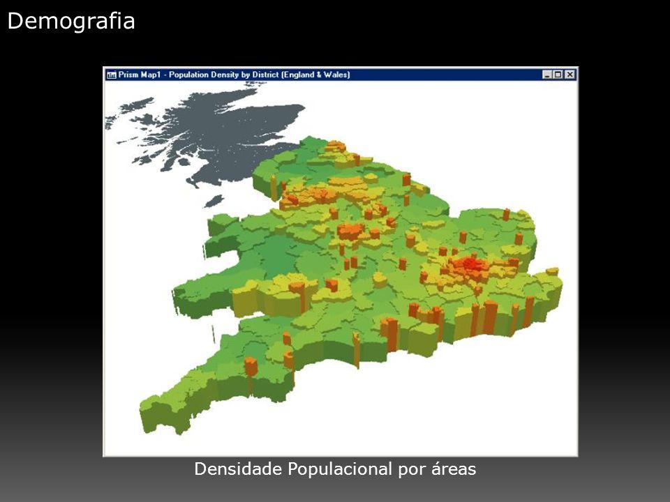 Densidade Populacional por áreas