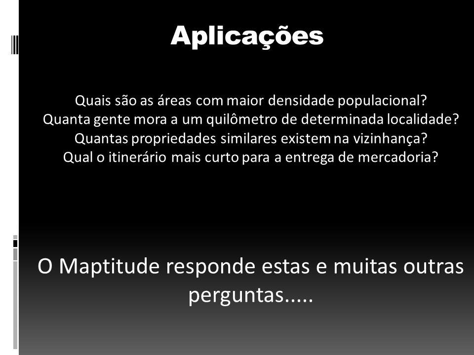 Aplicações O Maptitude responde estas e muitas outras perguntas.....