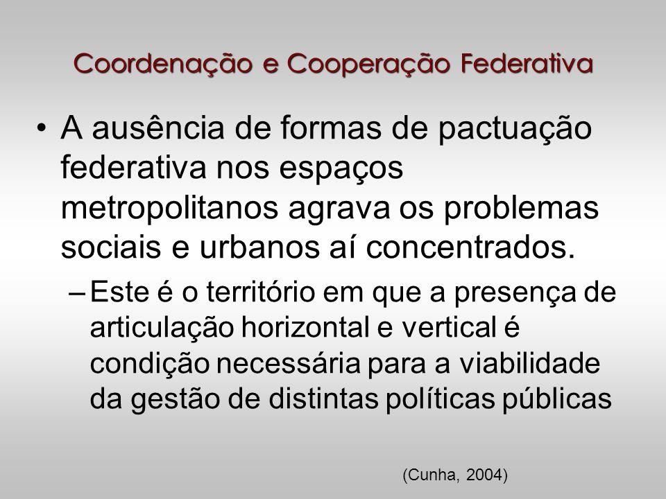 Coordenação e Cooperação Federativa