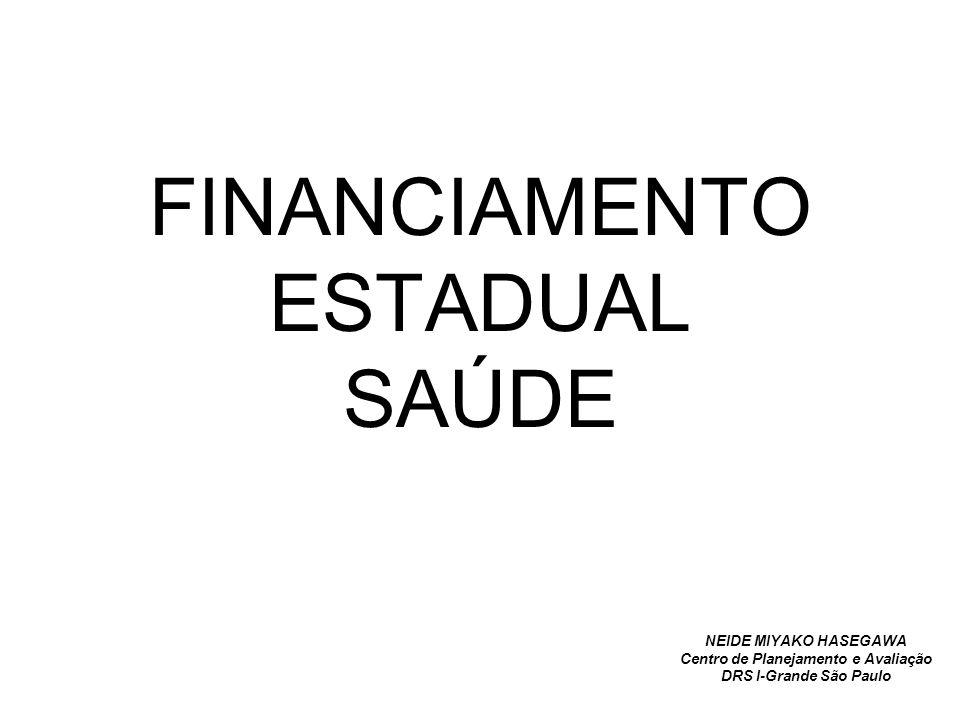 FINANCIAMENTO ESTADUAL SAÚDE