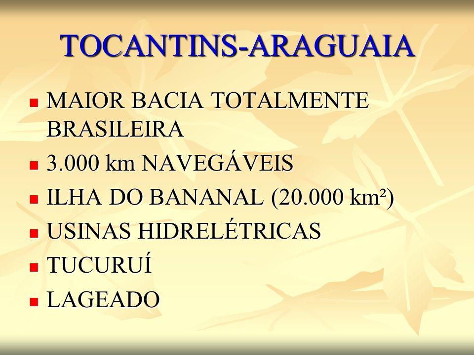 TOCANTINS-ARAGUAIA MAIOR BACIA TOTALMENTE BRASILEIRA