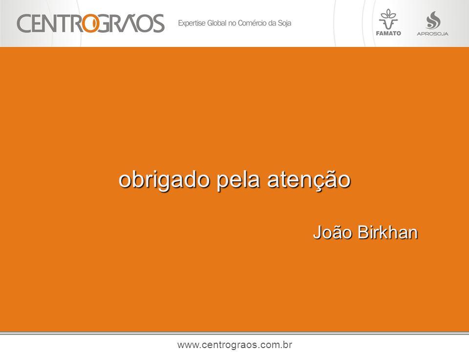 obrigado pela atenção João Birkhan www.centrograos.com.br