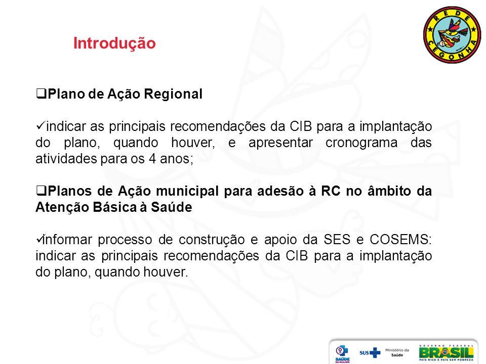Introdução Plano de Ação Regional