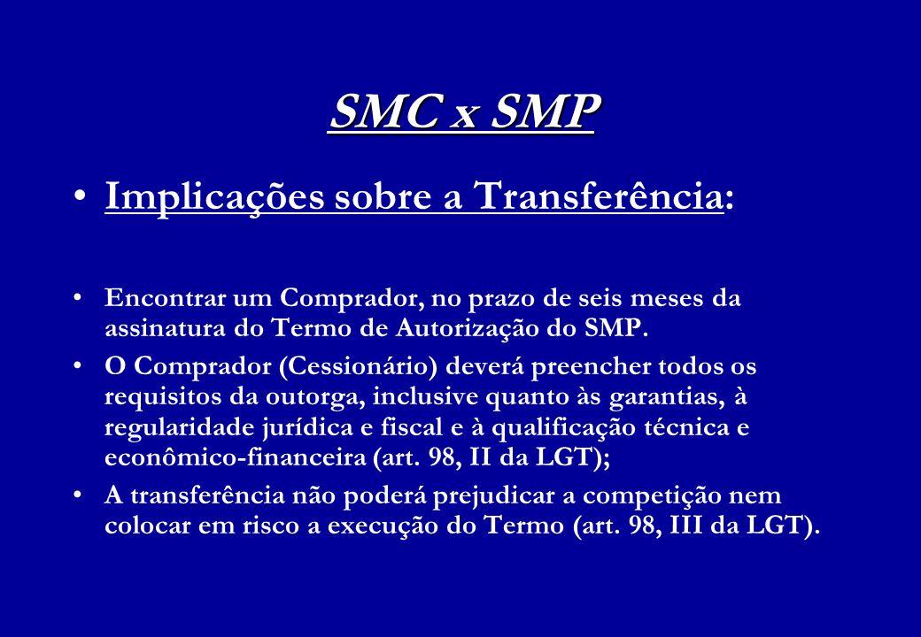 SMC x SMP Implicações sobre a Transferência: