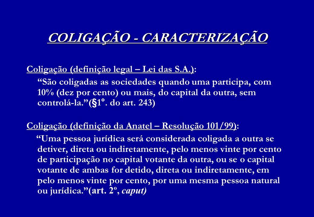 COLIGAÇÃO - CARACTERIZAÇÃO