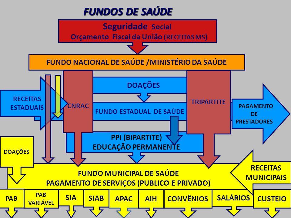 FUNDOS DE SAÚDE Seguridade Social