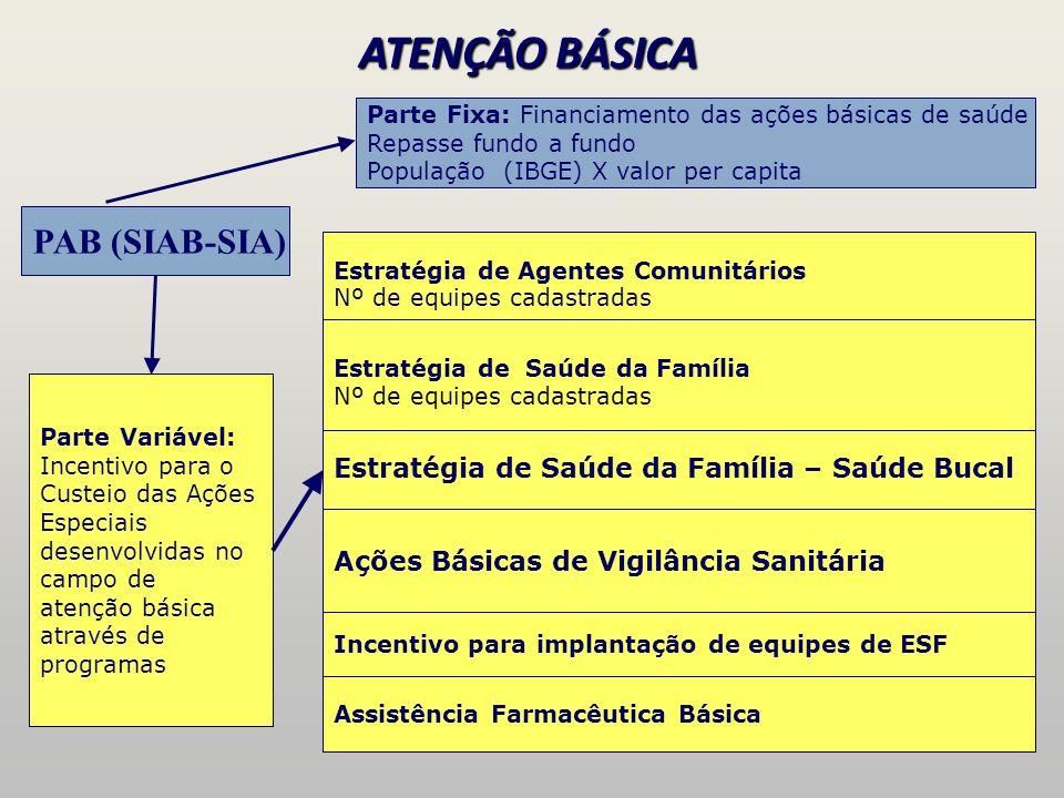 ATENÇÃO BÁSICA PAB (SIAB-SIA)