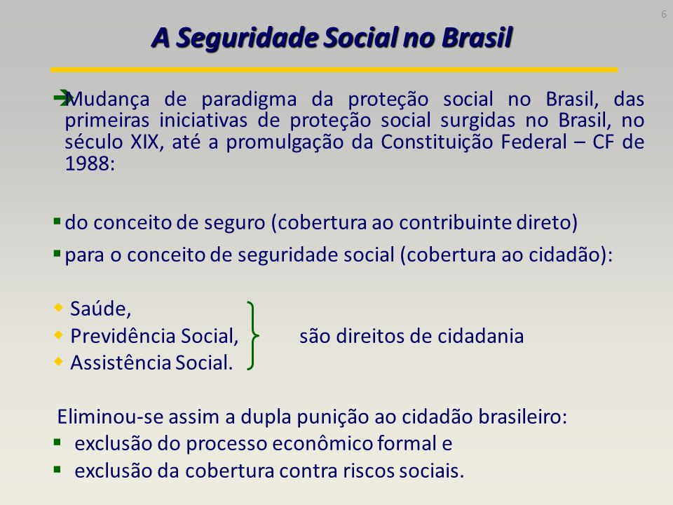 A Seguridade Social no Brasil