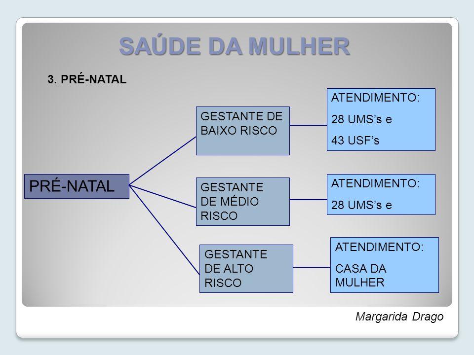 SAÚDE DA MULHER PRÉ-NATAL 3. PRÉ-NATAL ATENDIMENTO: 28 UMS's e