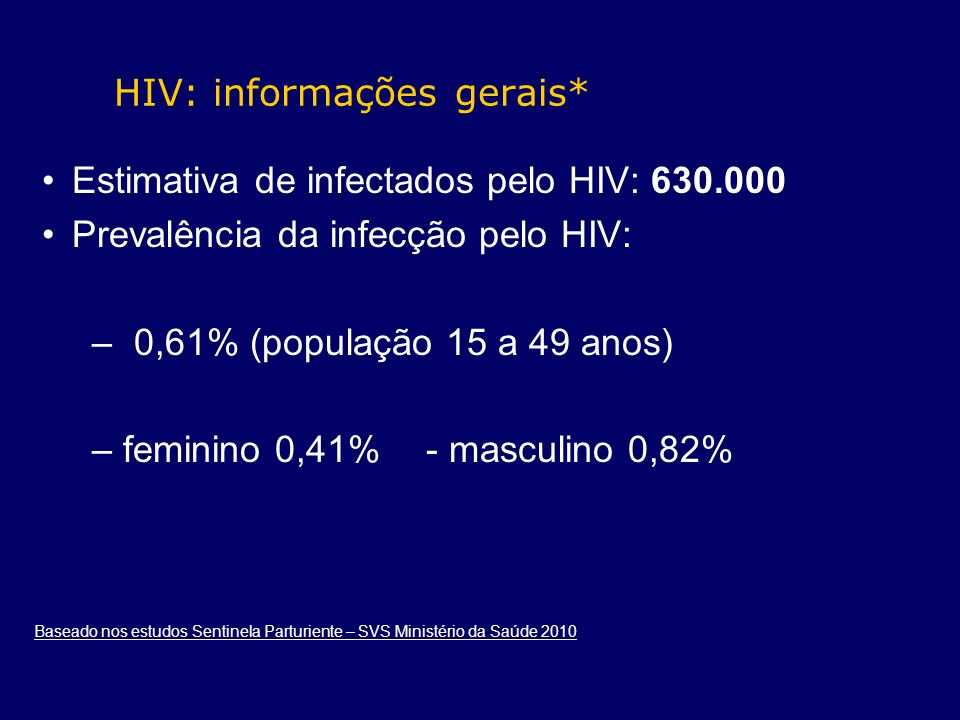 HIV: informações gerais*