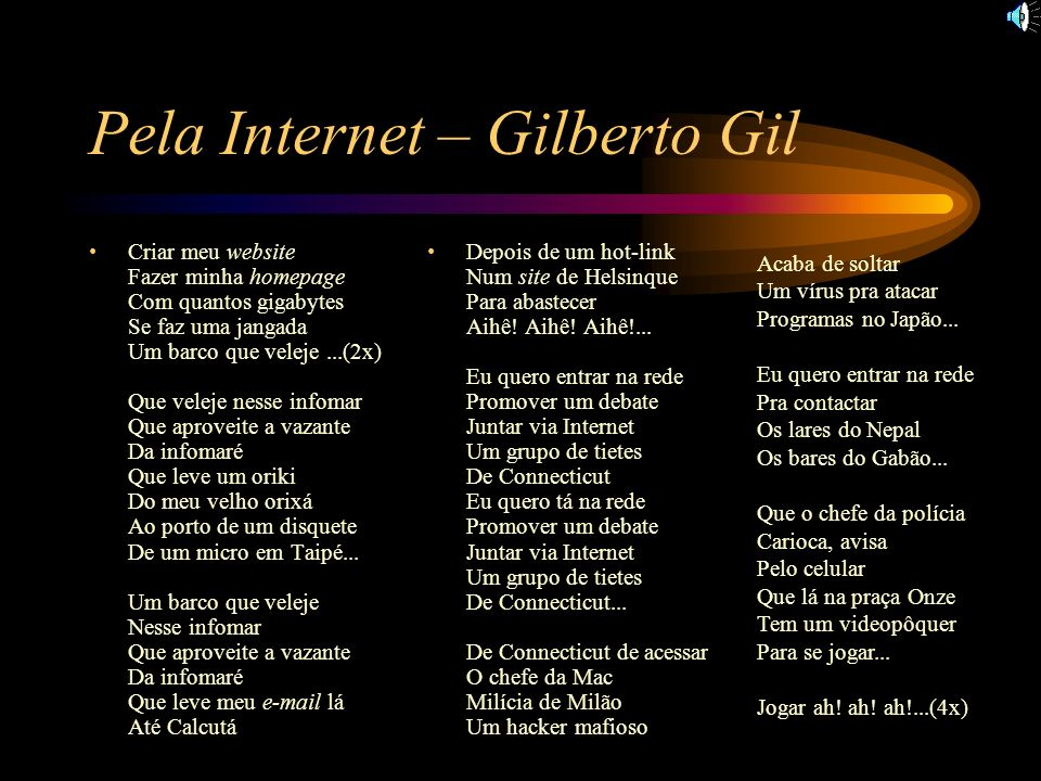 Pela Internet – Gilberto Gil