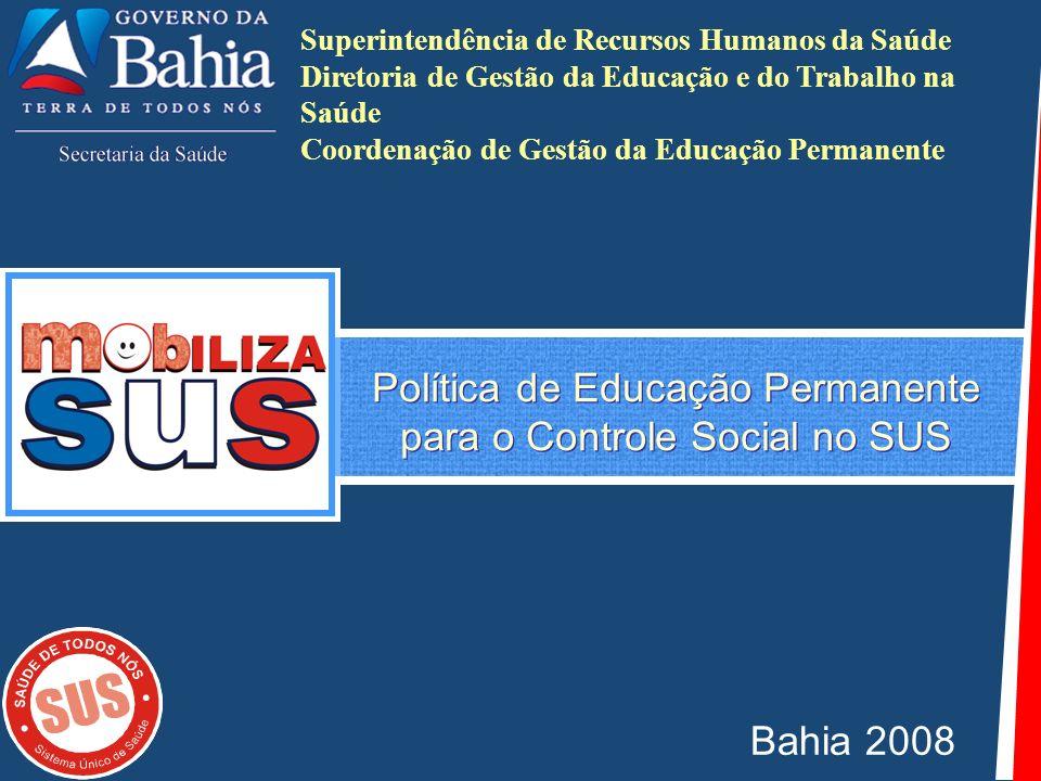 Política de Educação Permanente para o Controle Social no SUS